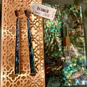 Kendra Scott BROOKLYN Abalone NWT Earrings